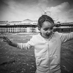 Matilda on Brighton Beach (lomokev) Tags: portrait blackandwhite bw green girl lady female person pier blackwhite lomo brighton child human bandw brightonpier palacepier lomogaphy lca120 lomolca120 file:name=150712lomolca120lomobw400000003 roll:name=150712lomolca120lomobw400