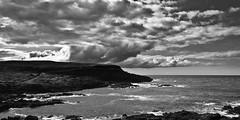 Head in the Clouds B&W (LJGibbs1) Tags: clouds headland