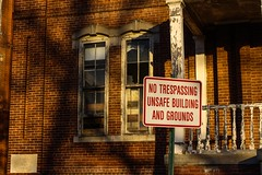 Central State Hospital (SWLong) Tags: abandonedhospital building asylum notrespassing danger goldenhour unsafe