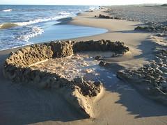 Mare haute sur les chteaux de sable (cristoflenoir) Tags: naturism naturisme