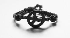 Peace #2 (Emma Conner) Tags: blackandwhite peace wristband peacesymbol