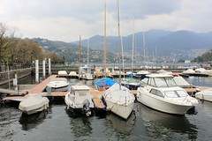 Harbour (demeeschter) Tags: italy lake como architecture boats lago volta