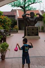 Idol (villeah) Tags: street boy people statue model child example malaysia melaka malacca role my