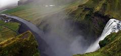 skogarfoss 20 3p (Bilderschreiber) Tags: panorama green water rain island waterfall iceland wasser nebel wasserfall grn regen nass skogar skogarfoss gischt skoga