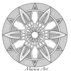 Zendala (marusaart) Tags: illustration sketch drawing mandala doodle ornament zen draw zendala marusaart