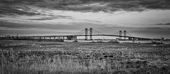 The Delaware Memorial Bridge (Geoff Livingston) Tags: bridge panorama river memorial cable delaware i95 newjerseyturnpike