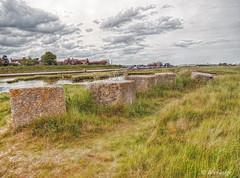 Walberswick (Ian Gedge) Tags: uk england english water grass river concrete coast suffolk britain blocks eastanglia walberswick