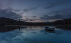 Blue Dawn (Visible Landscape) Tags: uk blue reflection scotland boat highlands twilight loch gloaming visiblelandscape