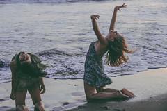to the waves  rhythm, surrender (Gabriela Rosell grfica-foto-mente) Tags: sea two beauty smile canon mar dance movement energy pretty natural joy enjoy beautifulwomen feliz mujeres belleza carpediem alegra bailar happyness twowomen sonrisas energa movimientos disfrutar conect montehermoso 60d gabrielarosell