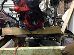 Measuring (john.and.kath) Tags: chevrolet conversion welding engine mount swap impala ls 1965 drilling pedestal fabrication 60l l98 jrd ls2 l76