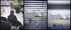Waiting, waiting... (Giorgio Verdiani) Tags: windows woman film amsterdam ga mediumformat evening donna airport 645 waiting fuji time tail airplanes aeroporto fujifilm 60mm february tempo fujica fujinon waitingroom 2012 coda sera 220 attesa febbraio finestre rollfilm aerei stolenshot 800asa ga645 800iso pellicola trittico attese rullo saladattesa medioformato 800z scattorubato 645ga 800iiso