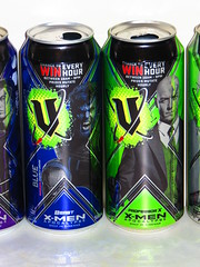 V Energy - Five Specially Marked Limited Edition Cans to Collect! (RS 1990) Tags: drink apocalypse xmen beast soda cans marvel promotional professorx 2016 venergy
