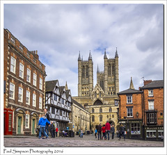 Lincoln Cathedral (Paul Simpson Photography) Tags: street people shopping spring cathedral religion lincolnshire lincoln shops excitement magnacarta visitirs photosof imageof castlesquare bailgate photoof imagesof sonya77 paulsimpsonphotography april2016 viewsoflincoln