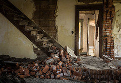 Last Step (Rodney Harvey) Tags: ohio house brick abandoned stairs rural decay staircase collapse