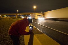 IMG_2375 (CassinStacy) Tags: street new city light people urban night mexico evening highway bokeh albuquerque freeway fe sante