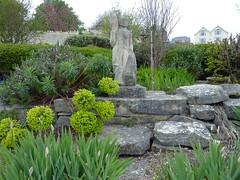 green & grey (dawn.v) Tags: uk england statue stone grey seaside may dorset mayday swanage purbeck drizzle 2016 bankholidayweekend lumixtz7