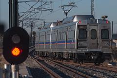 RTD train at 40th and Airport (Michael Karlik) Tags: railroad car electric train colorado cab denver commuter emu passenger hyundai signal rotem rtd