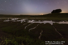Flood Tide - Drakes Estero (Marsha Kirschbaum) Tags: california reflection landscape marincounty nightsky starrynight zodiacallight pointreyesnationalseashore schoonercreek drakesestero starryskies marshakirschbaum sonya7rii