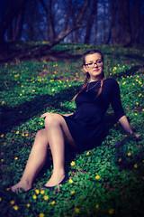 Springtime (VasiRed Bull 2013) Tags: world life wood light green colors girl grass wonderful women warm watchful
