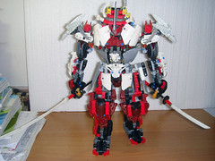 LEGO WHITE Samurai Warrior [M.O.C] (demon14082001) Tags: white robot lego technic bow warrior samurai katana creature bionicle mecha spear moc