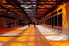 Walkway, Gare de Lyon Perrache (HonleyA) Tags: fujifujifilmxt10stationrailwayfrance