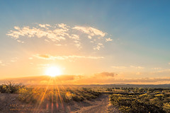 Sunshiny (inlightful) Tags: county morning sunset sky sun sunshine clouds sunrise dawn dirtroad sunrays goodmorning sunbeams