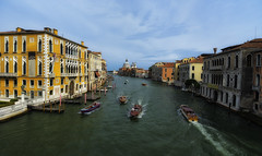 Traffic Jam on the Grand Canal (Frags of Life) Tags: venice italy water buildings boats basilica veneto grancanal variotessar16354za ilce7m2