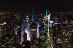 Times Square zoom (robe_mac) Tags: city longexposure night skyscraper lights arquitectura cityscape nightscape timessquare silueta largaexposicion