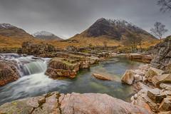 Glen Etive (djmeister) Tags: snow scotland waterfall highlands glentetive