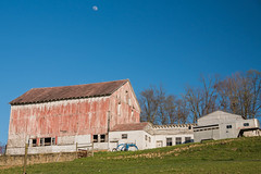 Day#40/365- Barn- Rural WV (bangela95) Tags: blue red sky white building barn rural outside countryside nikon farm country rustic wv d750 weathered appalachia morgantown