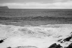 Cape Spear - 2016 - Cold Sea (Clif Budden) Tags: blackandwhite bw canada nature newfoundland outdoors january stjohns environment nl capespear 2016