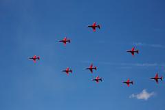 Red Arrows (Bernie Condon) Tags: uk tattoo plane flying team display hawk aircraft aviation military jet formation airshow arrows reds bae trainer redarrows raf warplane airfield aerobatic ffd fairford riat royalairforce raffairford airtattoo rafat riat15
