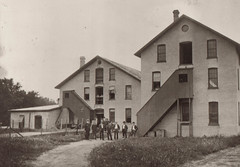 Portage Hosiery Mill with Male Workers