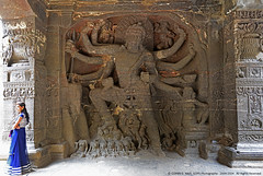 SIZE DOES MATTER (GOPAN G. NAIR [ GOPS Photography ]) Tags: india history rock stone temple photography carving caves ajanta ellora gops kailasa gopan gopsorg gopangnair gopsphotography