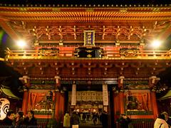 Main gate of Kanda Myoujin Shrine (gemapozo) Tags: japan night tokyo shrine pentax jp 日本 夜景 kandamyoujin 千代田区 東京都 神田明神 645z smcpentaxfa64535mmf35alif 新年2016