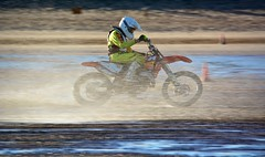 Mablethorpe Beach Racing (karenpym) Tags: summer people mountain man motion blur male men green beach nature bike bicycle sport danger race speed germany fun outdoors bicycling cycling jump jumping healthy movement break cyclist hand view ride exercise arm mud action background extreme helmet young mountainbike lifestyle racing dirty course adventure dirt riding cycle biking mtb biker leisure brake concept activity sporty active braking subjective aichwald