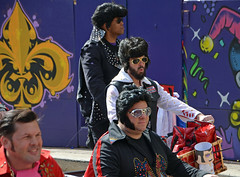 Members of the Krewe of Rolling Elvi (Monceau) Tags: colorful parade mardigras kreweofiris
