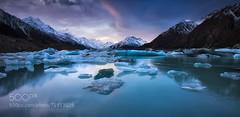 Lost In Blue Velvet. (Big_Joker) Tags: new lake snow mountains island south cook mount zealand glaciers tasman 500px darrenjbennett