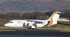 G-SMLA BAE 146-200 (douglasbuick) Tags: plane scotland airport nikon flickr glasgow aircraft aviation airways airlines bae airliner jota taxiing d40 146200 egpf gsmla