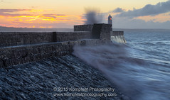Mother Nature (www.kompleatphotography.com) Tags: lighthouse storm water wales sunrise dawn coast seaside long exposure flickr waves wind rough flicktheroes