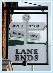 Local Pub (13/366) (DaveWilcock) Tags: road sign pub lane preston local blackpool ends 13366 20161photoeachday 366the2016edition