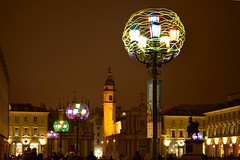 Kingdom of the flowers: cosmic nest of all souls (zuul72) Tags: night torino italia luci notte piazzasancarlo artista