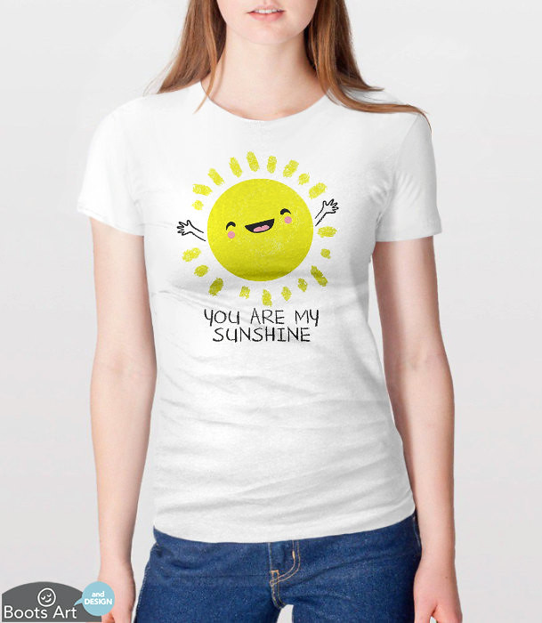 3296e611ee56 Cute T-Shirt | You Are My Sunshine Shirt | Gift for Her | Cute