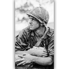 """""""Time Goes Too Slowly"""" Marines 1967 (Peer Into The Past) Tags: history usmc wounded 1967 warriors marines heroes marinecorps vietnamwar hill881 peerintothepast"""