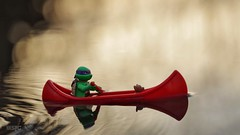 """There is nothing - absolutely nothing - half so much worth doing as simply messing about in boats.""   Kenneth Grahame, Writer (xxsjc) Tags: lego dusk adventure pacificnorthwest canoeing tmnt minifigure ongoldenpond toyphotography shellycorbett legography xxsjc stuckinplastic"