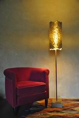 Luminaire 0277 (l'attribut-lumire) Tags: france rouge design lampe licht lumire or carton objet papier nuit bois dco naturelle clairage abstrait luminaire cration cuivre recyclage matire ralisation dcorationintrieur crationlumineuse