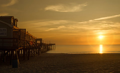 Sunrise at Avalon - (mjdrhd) Tags: vacation beach nature beauty sunrise pier sand outerbanks