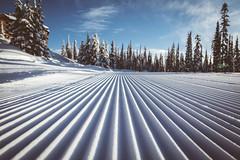 Corduroy (WestCoasting) Tags: snow ski britishcolumbia okanagan snowboard corduroy bigwhite freshtracks groomedrun