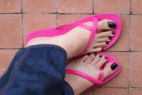 Footjob blue nails - 5 5