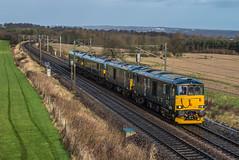 Nessun dorma (Blaydon52C) Tags: train durham transport rail railway trains eastcoast chesterlestreet ecml caledoniansleeper class73 class92 gbrf plawsworth